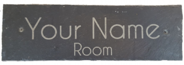 Personalised Engraved Slate Room Sign